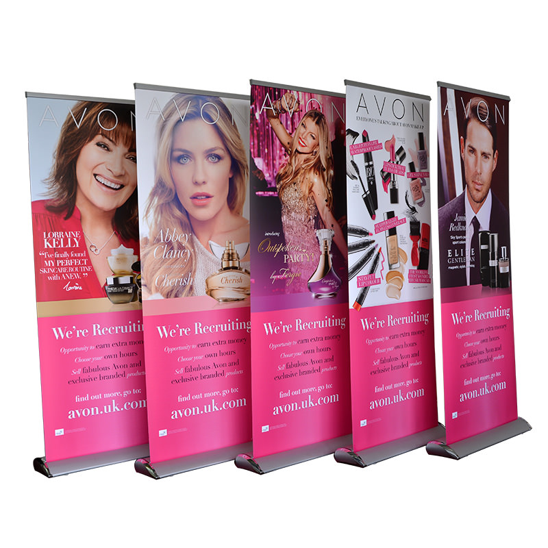 Teardrop Retractable banner stand(PTC-RU-19S)