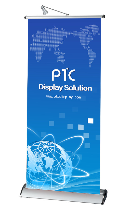 Standing type scrolling banner stand (PTC-RE-2C)